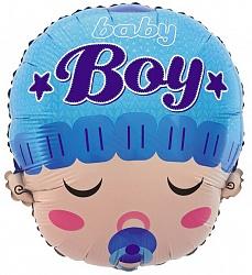 фольгированная голова мальчик