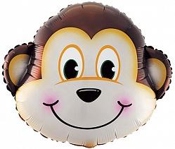 фольгированная голова обезьяны