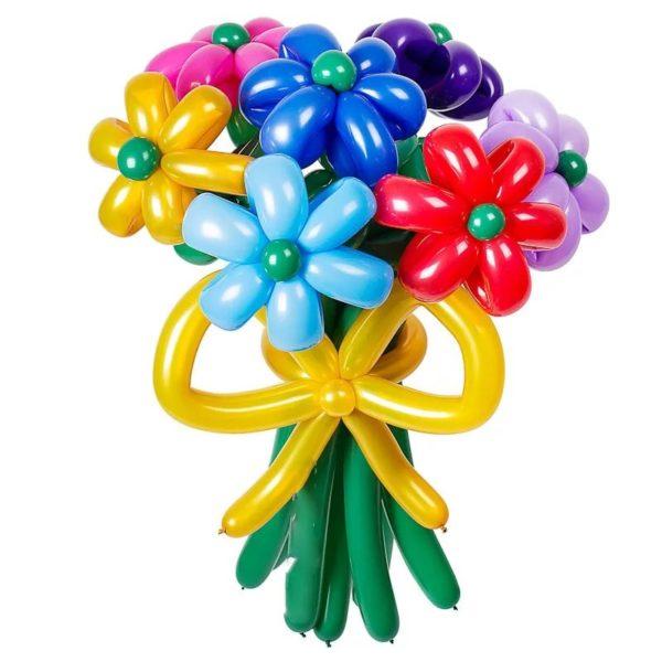 ромашки из воздушных шаров