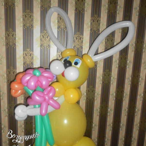зайчик из шаров