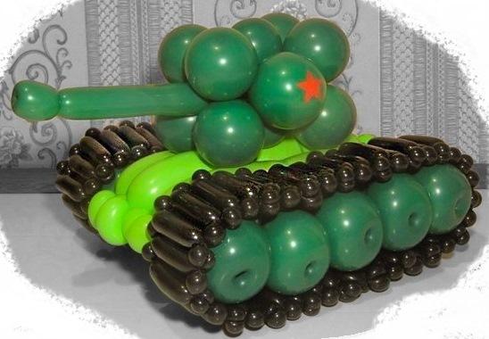 танк из шаров для мужчин
