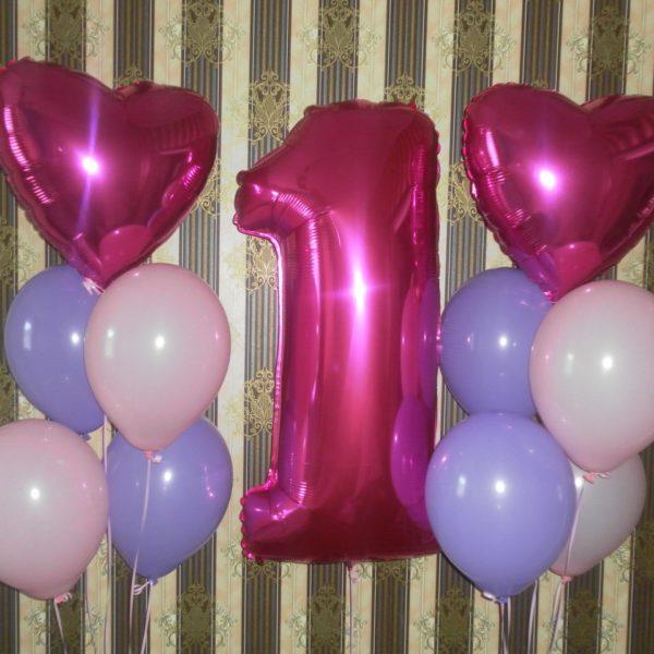 гелиевые шары с цифрой на др